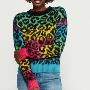 Derek Heart Multicolor Leopard Sweater L NWT